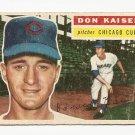 1956 Topps baseball card #124 Don Kaiser G/VG Chicago Cubs