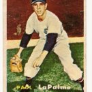 1957 Topps baseball card #344 Paul LaPalme VG