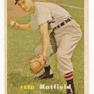 1957 Topps baseball card #278 Fred Hatfield VG