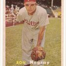 1957 Topps baseball card #254 (B) Ron Negray VG+