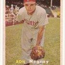 1957 Topps baseball card #254 (B) Ron Negray VG+
