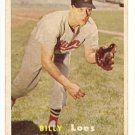 1957 Topps baseball card #244 (B) Billy Loes EX