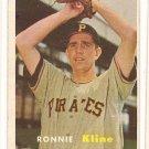 1957 Topps baseball card #256 (C) Ronnie Kline VG