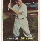 1957 Topps baseball card #255 Charlie Silvera VG/EX