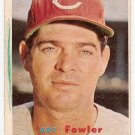 1957 Topps baseball card #233 Art Fowler VG