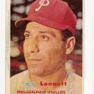 1957 Topps baseball card #241 (C) Joe Lonnett VG