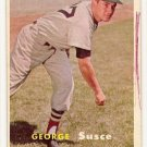 1957 Topps baseball card #229 George Susce VG