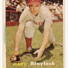 1957 Topps baseball card #224 Marv Blaylock VG