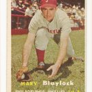 1957 Topps baseball card #224 (B) Marv Blaylock VG