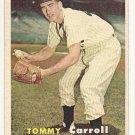 1957 Topps baseball card #164 Tommy Carroll VG