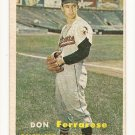 1957 Topps baseball card #146 Don Ferrarese - good (rough texture)