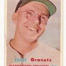 1957 Topps baseball card #179 Ernie Oravetz VG