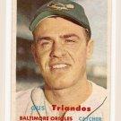 1957 Topps baseball card #156 Gus Triandos VG
