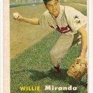 1957 Topps baseball card #151 Willie Miranda VG