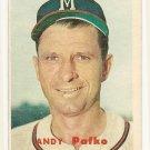 1957 Topps baseball card #143 Andy Pafko VG
