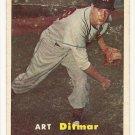 1957 Topps baseball card #132 Art Ditmer VG (creased)