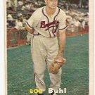1957 Topps baseball card #127 Bob Buhl VG/EX