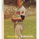 1957 Topps baseball card #206 Willard Schmidt - good