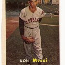 1957 Topps baseball card #8 Don Mossi VG