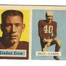 1957 Topps football card #91 Lindon Crow VG Chicago Cardinals