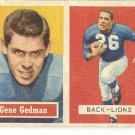 1957 Topps football card #44 (B) Gene Gedman VG/EX Detroit Lions