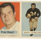 1957 Topps football card #27 (B) Fran Rogel VG Pittsburgh Steelers