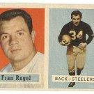 1957 Topps football card #27 Fran Rogel VG Pittsburgh Steelers