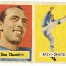 1957 Topps football card #23 Don Chandler VG New York Giants
