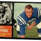 1962 Topps football card #6 Steve Myhra EX/NM Baltimore Colts