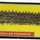 1962 Topps football card #49 Dallas Cowboys team VG