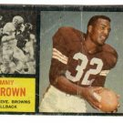1962 Topps football card #28 Jim Brown F/G (creased) Cleveland Browns