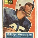 1956 Topps football card #120 Billy Vessels F/G Baltimore Colts