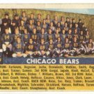 1956 Topps football card #119 (B) Chicago Bears team VG