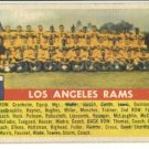 1956 Topps football card #114 Los Angeles rams team - good (ink marks)