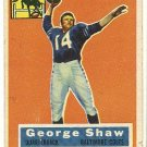 1956 Topps football card #108 (B) George Shaw VG- Baltimore Colts