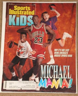 Sports Illustrated for Kids magazine May 1992 Michael Jordan - Michael mania!