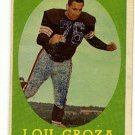 1958 Topps football card #52 Lou Groza - good (ink on front) Cleveland Browns