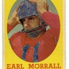 1958 Topps football card #57 Earl Morrall - good (ink on front) Pittsburgh Steelers