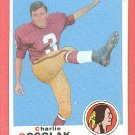 1969 Topps football card #205 (C) Charlie Gogolak NM Washington Redskins