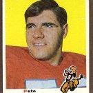 1969 Topps football card #182 (B) Pete Duranko EX Denver broncos