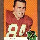 1969 Topps football card #89 Fred Arbanas NM Kansas City Chiefs