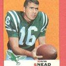 1969 Topps football card #85 (C) Norm Snead NM Philadelphia eagles