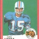 1969 Topps football card #48 (D) John Stofa EX Cincinnati Bengals