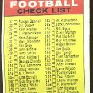 1968 Topps football card #219 (E) 2nd Series Checklist Unmarked EX/NM