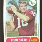 1968 Topps football card #110 Norm Snead Ex Philadelphia eagles