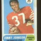 1968 Topps football card #61 Jimmy Johnson VG (small stain) San Francisco 49ers