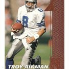 1997 Pinnacle football card #2 Troy Aikman Quarterback Club subset Dallas Cowboys