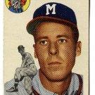 1954 Topps baseball card #188 (B) Dave Jolly VG+ Milwaukee Braves