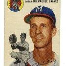 1954 Topps baseball card #176 (C) Bob Keely good condition Milwaukee Braves