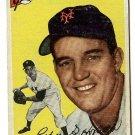 1954 Topps baseball card #99 (C) Bob Hofman VG (miscut) New York Giants